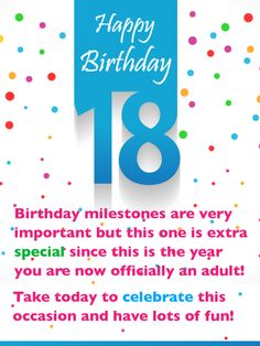 Send Free An Extra Special Day – Happy Birthday Card to Loved Ones on Birthday & Greeting Cards by Davia. It's free, and you also can use your own customized birthday calendar and birthday reminders. Happy Birthday 18th, Birthday Wishes For Son, Birthday Girl Quotes, 18th Birthday Cards, Birthday Wishes Messages, Birthday Reminder, Birthday Letters, Birthday Greeting Cards, Birthday Greetings