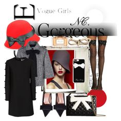 """Bow&hat! NC contest."" by noemicapozza ❤ liked on Polyvore featuring Christian Dior, Balenciaga, Casetify, Boutique Moschino, Betmar, RED Valentino and Valentino"