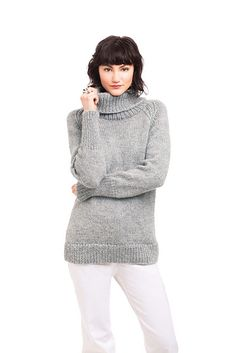 Ravelry: #13 Raglan Turtleneck Pullover pattern by Melissa Dehncke McGill