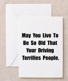 White 'May You Live to Be So Old' Card - Set of 10 #zulily #zulilyfinds