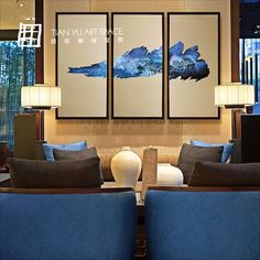 frame stretched canvas handmade scenery paintings wall decoration in home