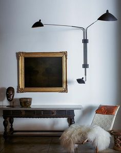 Galerie Half, eclectic style, Serge Mouille lamp, Bruno Mathsson chair, antique…