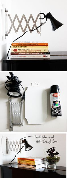 IKEA Hack - Accordian Light (using a FRACK accordian mirror and clamp light)