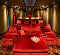 Plush home theater...this would be pretty sweet. Not going to lie