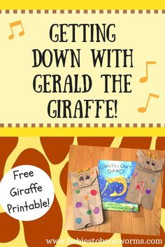 """Teach kids to be accepting and dance to their own beat with Gerald the Giraffe! Fun activities and crafts to pair with """"Giraffes Can't Dance""""! Music Lessons For Kids, Dance Lessons, Music For Kids, Drama Activities, Library Activities, Dance Activities For Kids, Preschool Library, Gerald The Giraffe, Giraffes Cant Dance"""