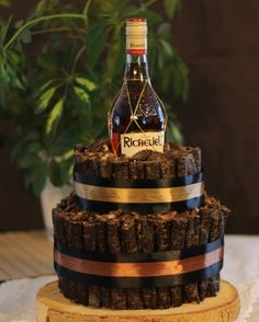 This is a custom designed fathers day biltong cakes with a treat by MK Biltong Imagineer. Order yours today in any size and design. #birthdaycake #biltongcake #customdesign #ideas  #biltong #weddingcake #gift #diy #fathersday #brandy #bachelors