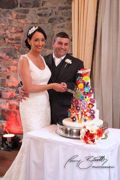Cutting the cake at Ballymagarvey Village Wedding Reception, Cakes, Weddings, Wedding Dresses, Photography, Style, Fashion, Marriage Reception, Bride Dresses