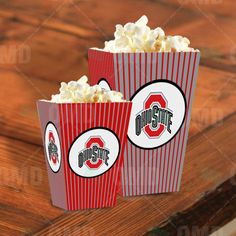 Ohio State Buckeyes Sports Party Popcorn Boxes