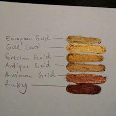Rub 'n Buff Sampler - Color Review I've been using Rub 'n Buff as a metallic…