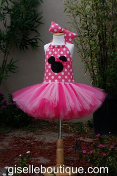 MiMi Mouse Pink tutu Skirt baby tutu dress by giselleboutique, $55.00