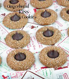 Hershey Kiss Gingerbread Cookies