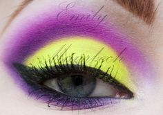 Pink, purple and yellow eyes