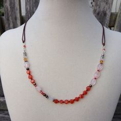 Carnelian Rose Quartz and Moonstone Necklace by EastVillageJewelry, $50.00 Beautiful handcrafted jewelry - Free shipping! www.eastvillagejewelry.etsy.com