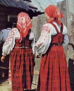 FolkCostume: East Polissia Costume with Talijka, or skirt with bodice, Ukraine