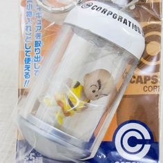 Dragon Ball Z Krillin in Capsule Mascot Figure Keychain Banpresto JAPAN ANIME