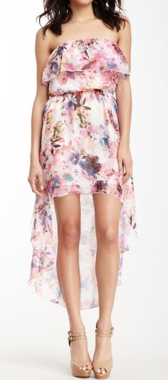 Floral hi lo dress, I wish I was tall enough for high-lo dresses so it would look right on me....