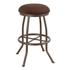 "Callee Walton 34"" Swivel Bar Stool Frame Finish: Sun Bronze, Upholstery: Ford Black"