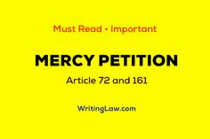 Mercy Petition - Article 72 and 161 of the Constitution of India Law Notes, Criminal Procedure, Judicial Review, Indian Constitution, Accusations, Love Reading, Sentences, Frases