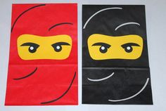 "Ninjago Goodie Bags (simple but effective ""fabric swirls"")"