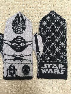 Knitted Mittens Pattern, Knitting Socks, Knitting Stitches, Hand Knitting, Knitting For Charity, Fair Isle Knitting, Star Wars Crafts, Knitting Machine Patterns, Socks