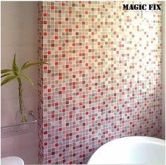 Mosaic tiles wallpaper paste stickers kitchen bathroom toilet waterproof self-adhesive pvc wallpaper Free Shipping