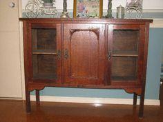 Antique SILKY OAK cabinet
