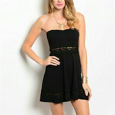 Black Short Strapless Dress