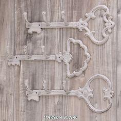 Zu finden bei: http://stores.ebay.de/pasyonblanc   Schlüsselbrett Schlüsselleiste Hakenleiste Schlüsselboard Key Shabby Metall Grau