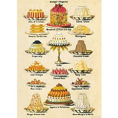 Cavallini Sweet Treats Wrapping Paper