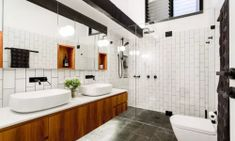 Check out our latest collection of interior designs featuring 17 Stunning Industrial Bathroom Designs You'll Love. 12 Beautiful Industrial Style Bathroom Decor Designs To Nail Your Home Industrial Bathroom Design, Bathroom Sink Design, Small Bathroom Sinks, Bathroom Bin, Bathroom Photos, Bathroom Styling, Bathroom Ideas, Bathroom Designs, Bathroom Storage