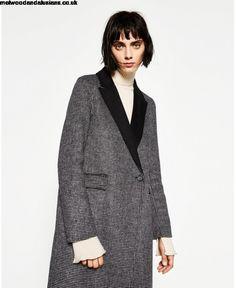 fc75587bf804 Buy ZARA gray handmade long coat 8715   240 - Women ZARA x More Coats