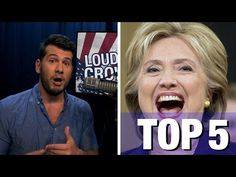 ▶ US Election 2016: ••Why NOT to vote for HILLARY: 5 Reasons•• 2016-07-20 StevenCrowder report (6:50min)  • 1.psychotic LIAR  2.anti-female, suppresses women  3.defends child RAPIST (& laughs @ it just as laughs at Genocide on Libya)  4.accepts FOREIGN DONATIONS (+ countries that have no female rights) (others get donations but it pales to her)  5.she's the definition of ESTABLISHMENT