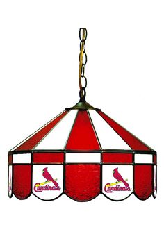 """St. Louis Cardinals Pub Light- 16"""" Stained Glass Hanging Light"""