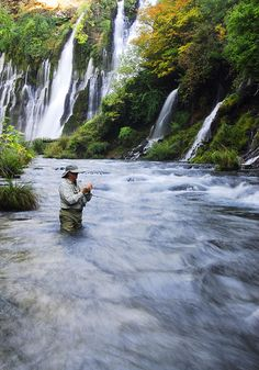 My next fly fishing outting! Burney Falls, McCloud River, CA.
