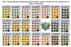 NEW SET 3! MICRO SCENT MATTE WACKY WHIFFER'ER' WHIFFERS SCRATCH&SNIFF STICKERS  #WackyWhiffer #ScratchSniff