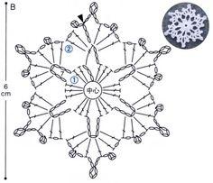 Crochet Snowflake Pattern, Crochet Lace Edging, Crochet Stars, Crochet Snowflakes, Crochet Mandala, Crochet Stitches Patterns, Filet Crochet, Irish Crochet, Diy Crochet