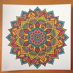 How to make mandala painting? - How to make mandala painting? Mandala Doodle, Mandala Drawing, Mandala Painting, Mandala Tattoo, Mandala Art, Mandala Design, Coloring Books, Coloring Pages, Dibujos Zentangle Art