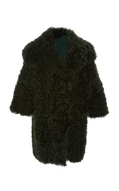 Tigrado Shearling Coat by OSCAR DE LA RENTA for Preorder on Moda Operandi