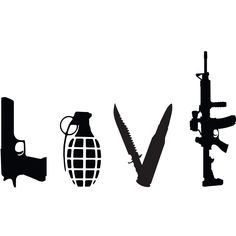 Love Weapons Gun Vinyl Decal Gun Decal for Cars by Tetreaunomics