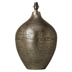 Buy John Lewis Akita Textured Fusion Pot Lamp Base Online at johnlewis.com