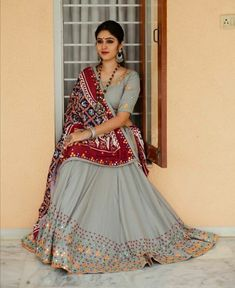 Book your order just Rs 1750 Indian Gowns Dresses, Indian Fashion Dresses, Dress Indian Style, Indian Designer Outfits, Half Saree Designs, Choli Designs, Lehenga Designs, Saree Blouse Designs, Garba Dress