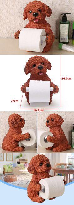 Resin Animal Dog Toilet Paper Roll Holder Dispenser-- Dog Animal Toilet Paper Roll Holder Dispenser  Ornament  for Home ,Office