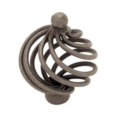 Liberty Hardware Forged Iron Wire Swirl Cabinet Knob with Ball Top - PN9012-AP-C