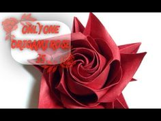 Only one origami rose 45 - YouTube