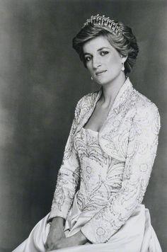 130portraits of royals:  16. Diana, Princess of Wales by Terence Daniel Donovan