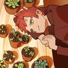 Gaara + plants