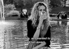 Black and White life text quotes true b&w run away sex and the city satc carrie bradshaw sarah jessica parker carrie SJP carrie bradshaw quotes Cinema Tv, Movie Lines, Mood Quotes, Carry On, Movie Tv, Tv Shows, In This Moment, Sayings, Words