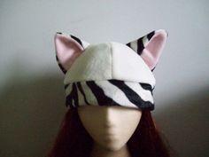 Wonderland Zebra Fashion Cat Hat