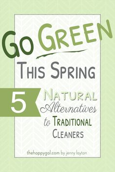 5 NaTuRaL aLTeRNaTiVeS To HeLP Go GREEN w/ SPRiNG CLEaNiNG ____Great cleaning recipes to try.