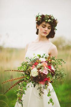 Wild at Heart styled shoot ~ Paula O'Hara and Pearl & Godiva http://weddingsparrow.com